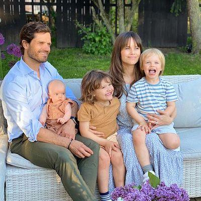 Princess Sofia and Prince Carl Philip share family photo