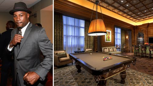 Former undisputed heavyweight champion Lennox Lewis was stunned by the tricked-out suite, RJ Cipriani says. (Getty)
