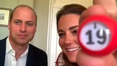 The Duke and Duchess call out Bingo numbers.