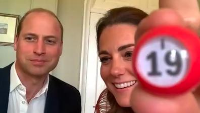 The Duke and Duchess call out Bingo numbers.