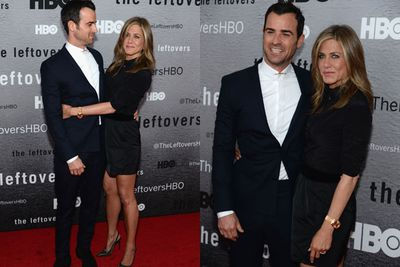 Looks at Jen's bronzed-up pins! <br/><br/>No wonder Justin can't keep his eyes off her...