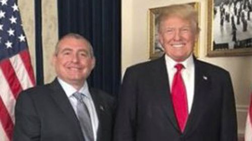 Lev Parnas posted this photo to Facebook of himself with Donald Trump.