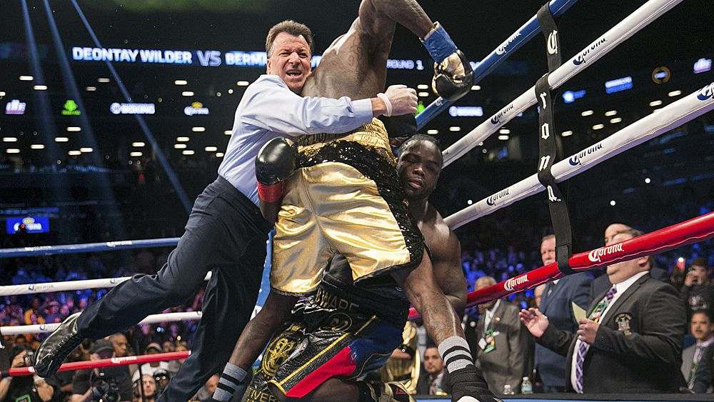 Boxing: Deontay Wilder soundly defeats Bermane Stiverne by TKO then calls out Anthony Joshua