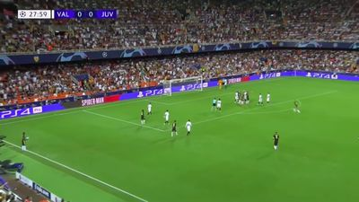 Juventus star Cristiano Ronaldo sent off against Valencia