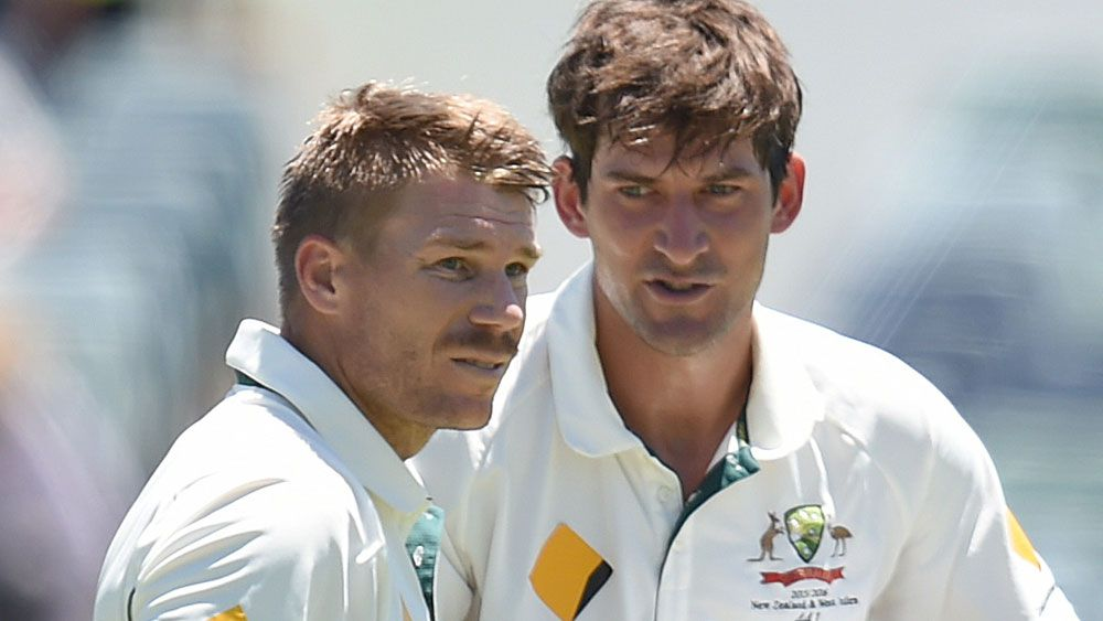 David Warner and Joe Burns will be hoping for plenty of runs together. (AAP)