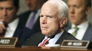 John McCain during a Senate committee hearing. (AAP)