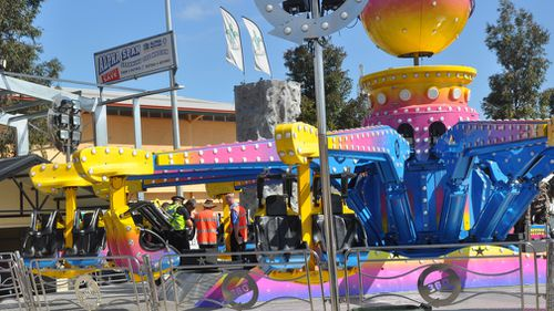 Adelene was flung from the Airmaxx 360 ride. (AAP)