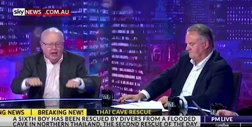 Labor stalwart Graham Richardson and former leader Mark Latham went head-to-head on Sky News last night. Picture: Supplied