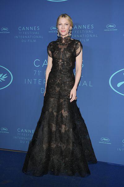 Cate Blanchett in Armani Privé at the 2018 Cannes Film Festival