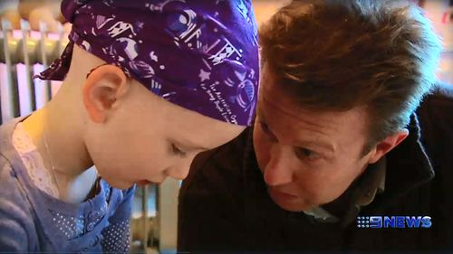 9NEWS presenter Peter Overton met Olivia Lambert in 2008, two years after the six-year-old was diagnosed with cancer.