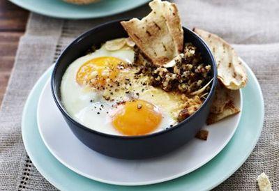 Baghdad eggs with quinoa