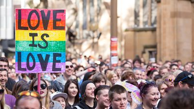 The controversial issue of same-sex marriage came in as the fifth most influential issue on the cultural power list. (AAP)