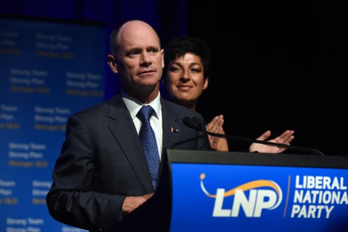 Former Queensland premier Campbell Newman has taken a swipe at police after a woman was killed by a bus in Brisbane's CBD (AAP Image/Dan Peled).