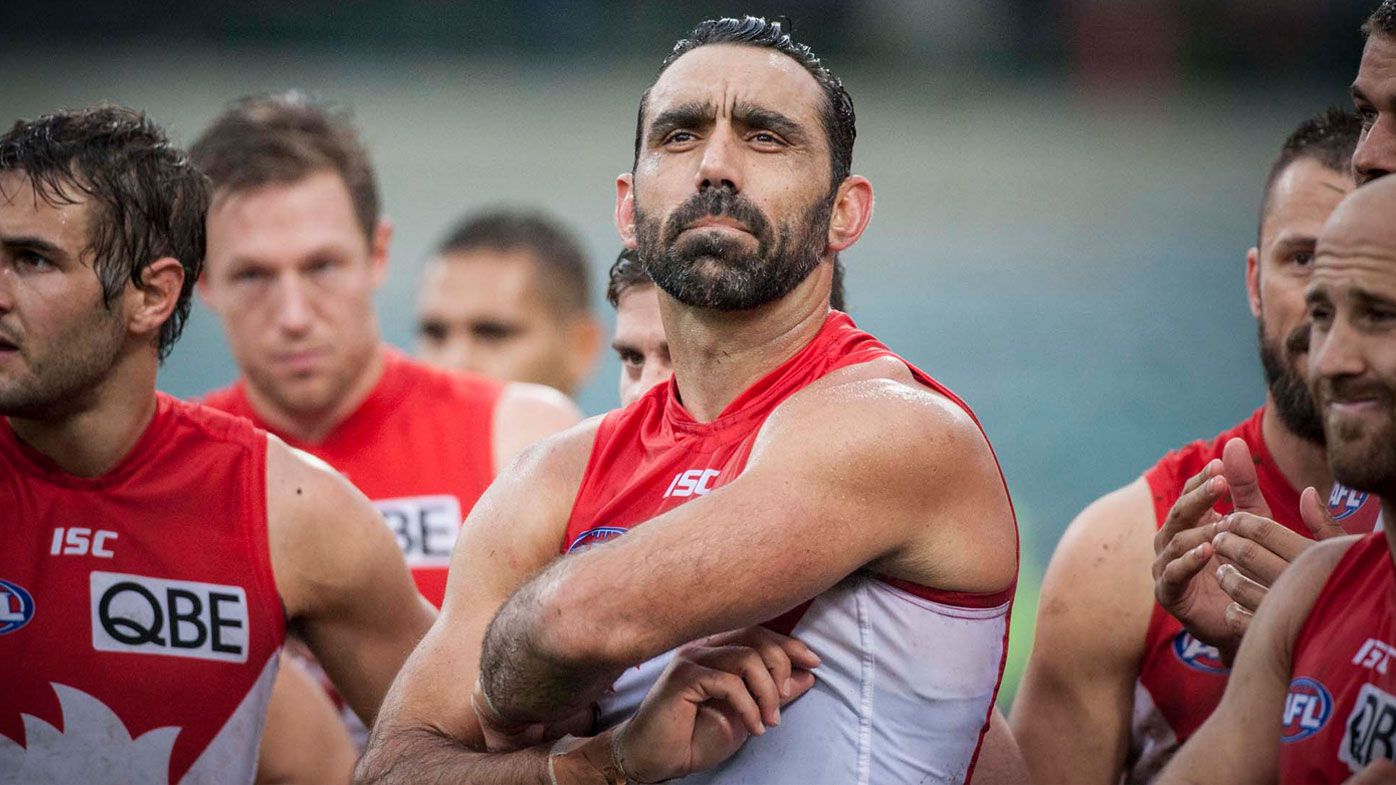 Adam Goodes during his career with the Swans