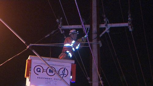 emergency crews and power teams worked to clear the mess. (9NEWS)