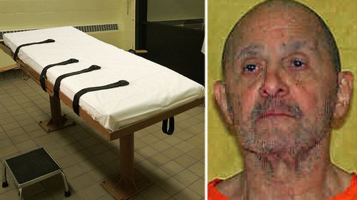 Death row prisoner Alva Campbell and a lethal injection table similar to the one used by Ohio authorities. (Photos: AP).