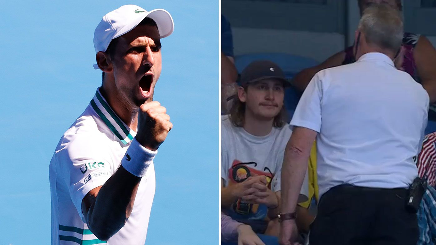 'I don't think they were behaving horrendously': Security called as Novak Djokovic unleashes on rowdy Frances Tiafoe fans