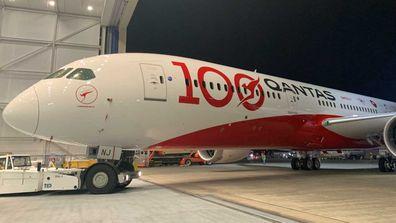 Qantas 100th birthday livery