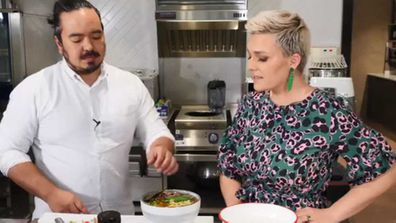 Adam Liaw pimps up two minute noodles for Jane de Graaff