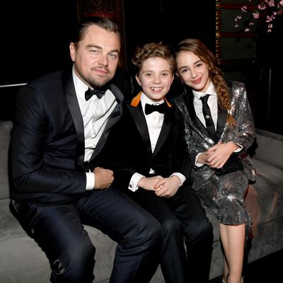 Leonardo DiCaprio, Roman Griffin Davis and Julia Butters