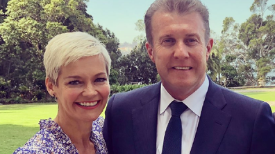 Jessica Rowe and husband Peter Overton