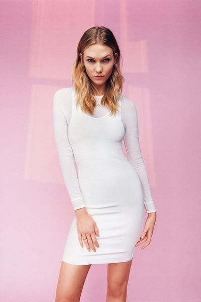 "Eight years after appearing in her first Topshop campaign alongside model BFF Jourdan Dunn, <a href=""http://honey.ninemsn.com.au/2015/12/07/11/57/karlie-kloss-first-makeup-tutorial"" target=""_blank"">Karlie Kloss</a> has returned to front the brand's spring/summer 2016 range. In stores and online from next week, the collection is rife with '80s and '90s nostalgia, with mom jeans, bomber jackets and minimal dresses the key styles. Click through to see Kloss' return (and wishlist your favourite pieces)."