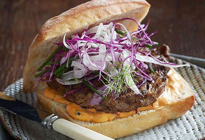 "<a href=""http://kitchen.nine.com.au/2016/05/05/13/26/cajun-steak-roll-with-red-pepper-mayonnaise-and-fennel-slaw"" target=""_top"">Cajun steak roll with red pepper mayonnaise and fennel slaw</a>"