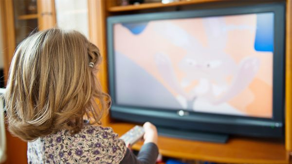 Screen time: television can be a welcome break for this exhausted mama. Image: Getty