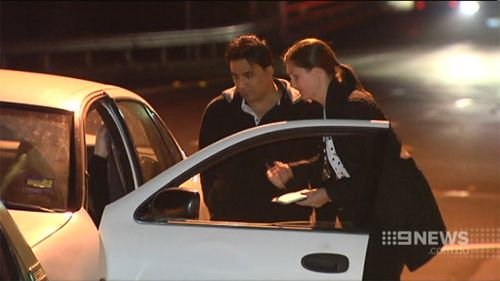An innocent motorist was rammed during the police chase. (9NEWS)