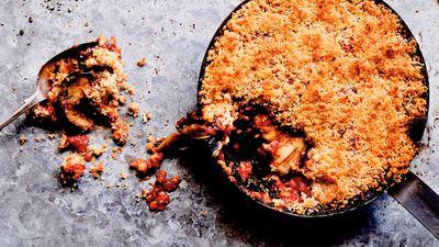 "Recipe: <a href=""https://kitchen.nine.com.au/2017/05/01/11/01/baked-eggplant-parmigiana"" target=""_top"">Baked eggplant parmigiana</a>"