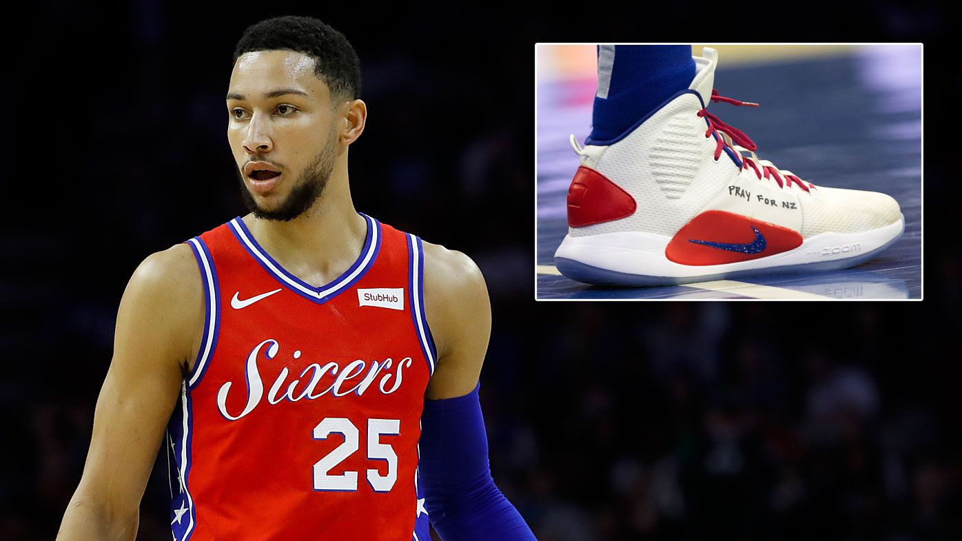 Aussie 76ers star Ben Simmons shares Christchurch tribute as Philadelphia beat Sacramento Kings