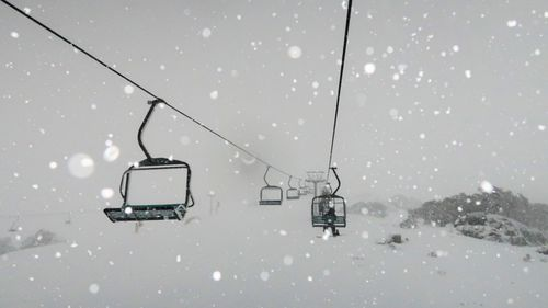 A file photo of Perisher ski lifts on July 13, 2020.