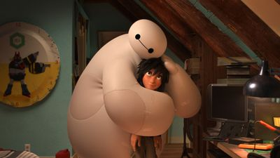Animated characters Baymax (voiced by Scott Adsit) and Hiro Hamada (voiced by Ryan Potter) are the stars of Disney Pixar's animated feature 'Big Hero 6'. (Supplied)