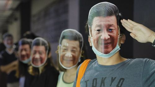 Hong Kong masked protests 1