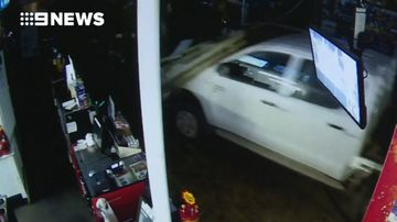 4WD ploughs into Queensland service station in bungled ram raid