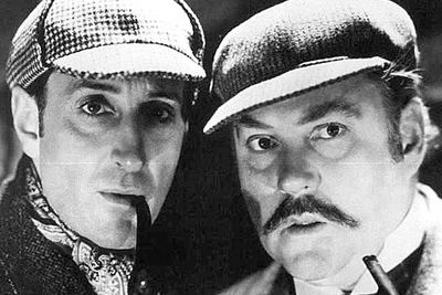 "<b>Holmes and Watson:</b> Basil Rathbone and Nigel Bruce.<br/><br/><b>The case:</b> Rathbone and Bruce are regarded by <i>Sherlock</i> purists as <i>the</i> definitive Holmes and Watson. (Rathbone is credited with popularising ""Elementary, my dear Watson"", a line that never appeared in Arthur Conan Doyle's stories.) The duo starred in many Sherlock Holmes movies between 1939 to 1946, with Rathbone continuing to play the sleuth on TV, stage and radio."