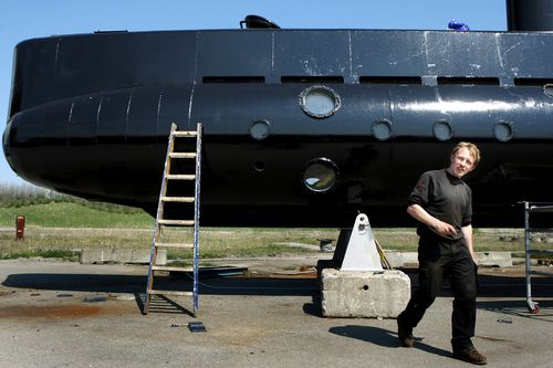 A 2008 file photo shows submarine owner Peter Madsen.