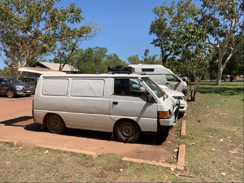 The alarm was raised yesterday after Mr Buriet's car, a white Mitsubishi van bearing Tasmanian registration E88QV, was found still parked in the carpark.