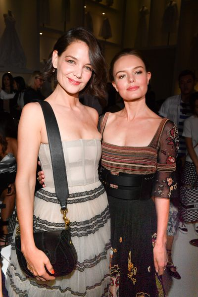 Actresses Katie Holmes and Kate Bosworth at Christian Dior Haute Couture  A/W 18/19 show in Paris, July 2018