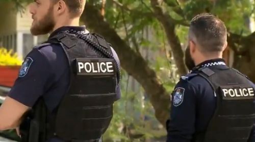 Police told residents to stay inside. (9NEWS)