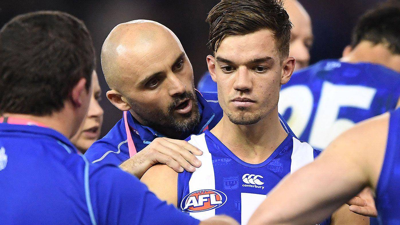 Kangaroos star Shaun Higgins praises new coach Rhyce Shaw's calming influence after win
