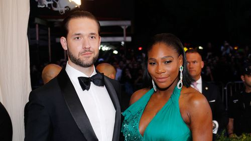 Alexis Ohanian and Serena Williams at 'Rei Kawakubo/Comme des Garçons:Art of the In-Between' Costume Institute Gala on May 1, 2017 in New York City. (Getty)