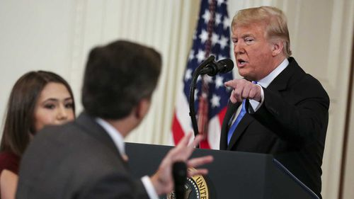 Donald Trump revoked CNN's Jim Acosta's press credentials after the journalist asked him a series of pointed questions.