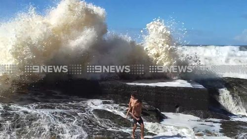 The boys at Snapper Rocks in Queensland. (9NEWS)