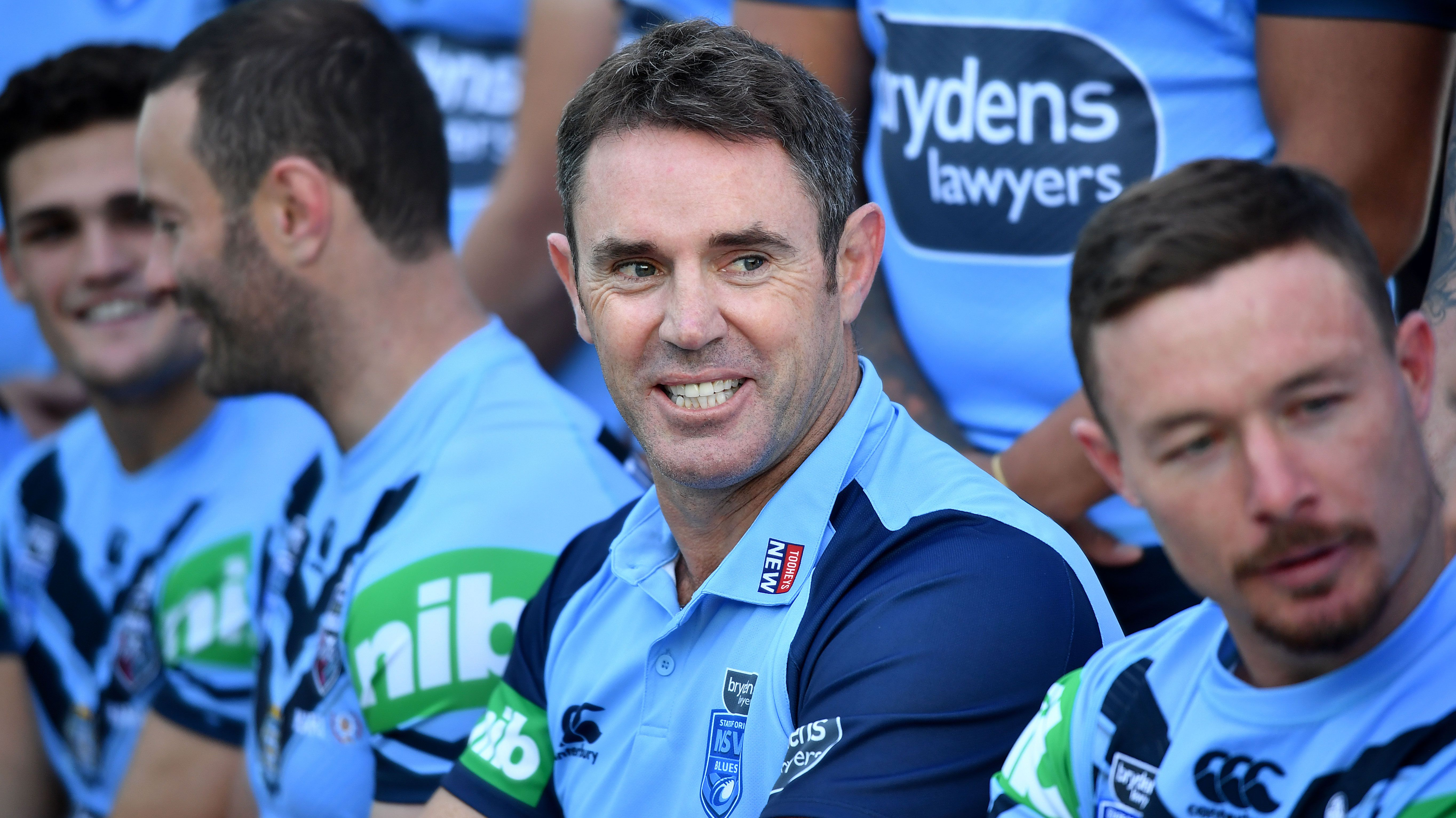 Brad Fittler with his NSW side for 2019.