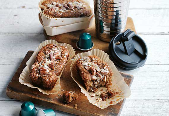 Individual Nespresso date and pecan breakfast loaves