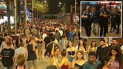 Thousands of school-leavers celebrate first night of Schoolies
