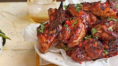 "Recipe:&nbsp;<a href=""http://kitchen.nine.com.au/2016/05/13/12/33/coriander-lime-and-chilli-chicken-wings"" target=""_top"">Coriander, lime and chilli chicken wings</a>"