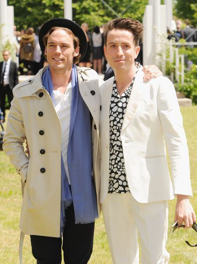 <p>Actor Sam Claflin and TV presenter Nick Grimshaw</p>