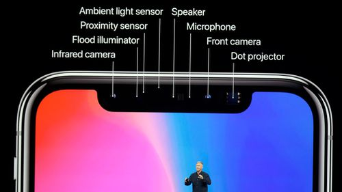 The iPhone X will feature a bezel-free OLED display. (AAP)